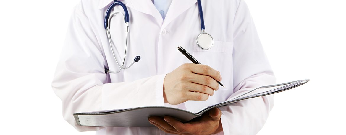 Doctor Writing in a Medical File