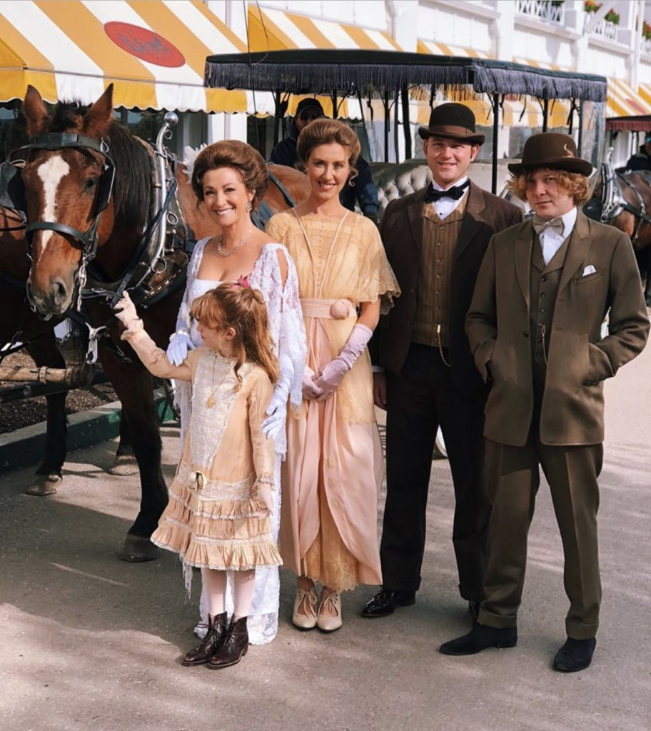 Jane Seymour and her family at the Grand Hotel
