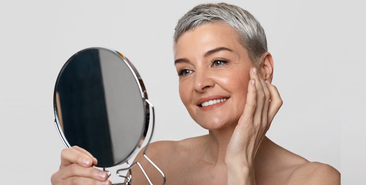 Woman Over 50 Caring for Her Skin